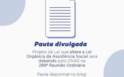 INFORMATIVO CONSELHO NACIONAL DE ASSISTÊNCIA SOCIAL