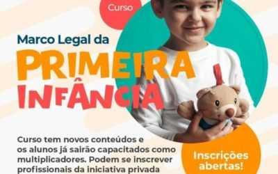 """Curso """"Marco Legal da Primeira Infância para Tod@s"""" – Inscrições Abertas"""